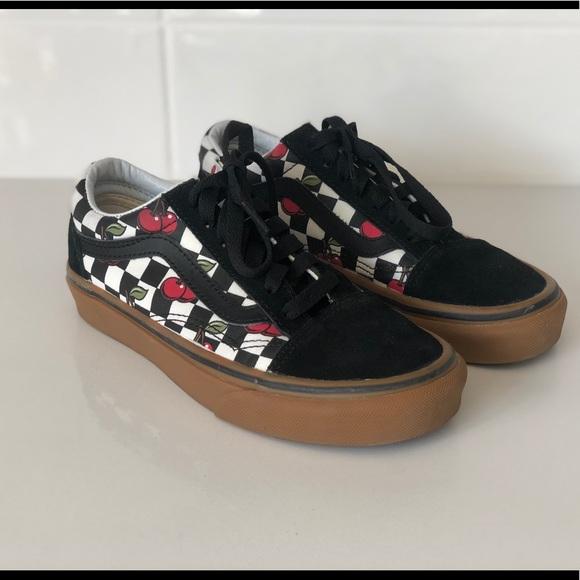 Vans Shoes | Cherry Checker Oldskool